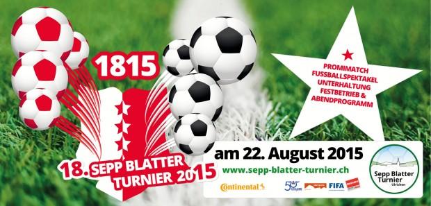 Folheto do torneio de Blatter do próximo sábado (Crédito: dlvulgação)
